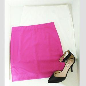 Mini Skirt Bundle Forever 21 Fushia & White